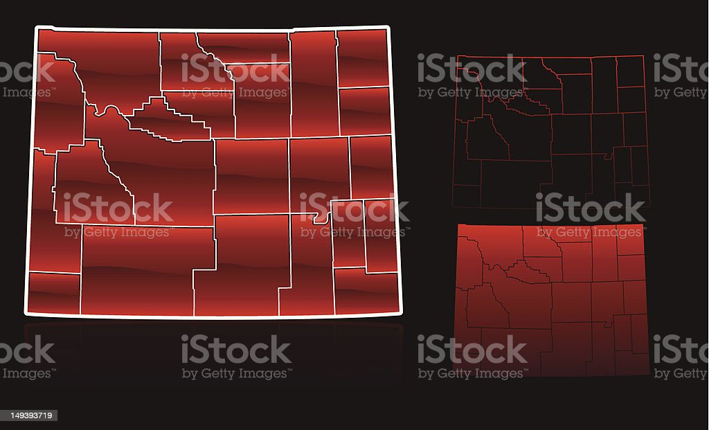 Counties of Wyoming royalty-free stock vector art