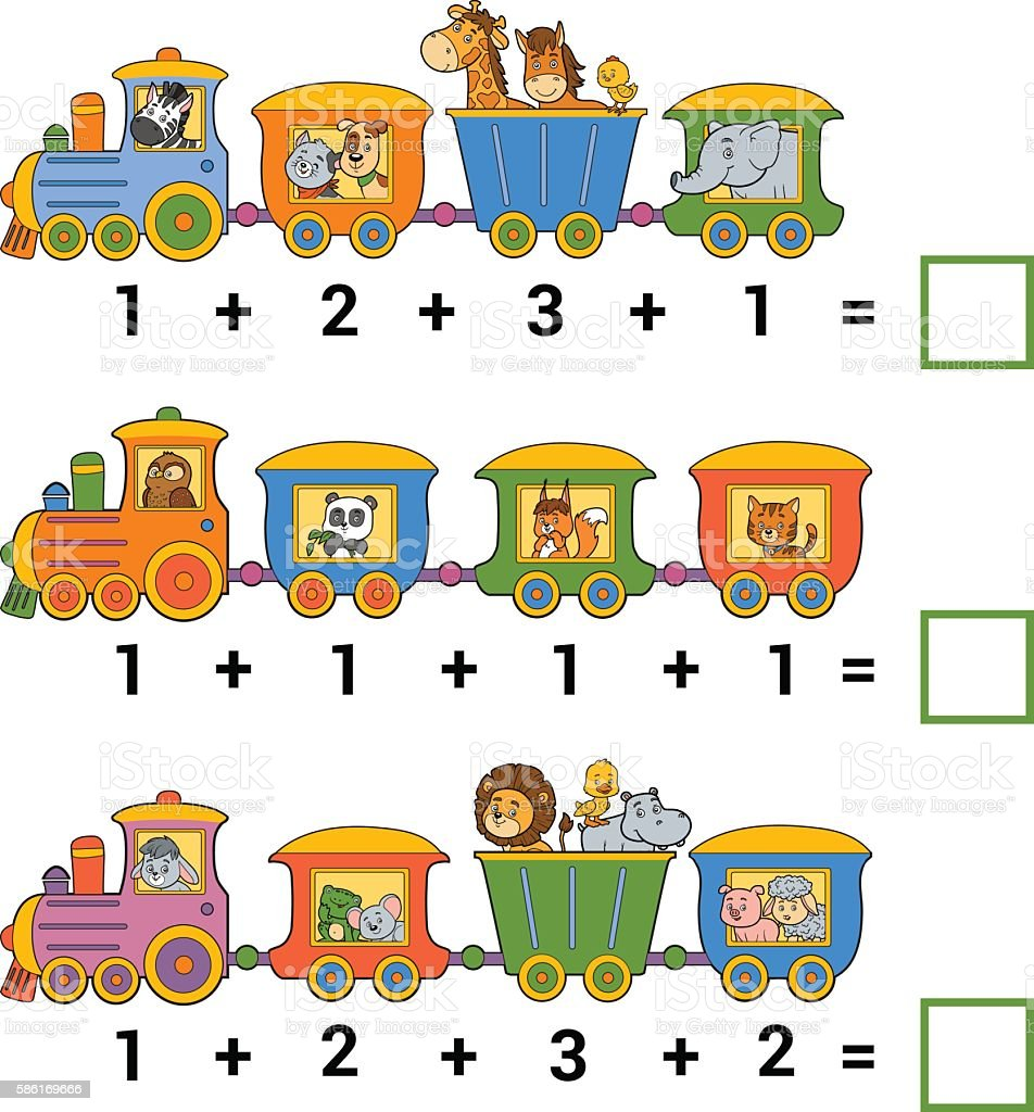 Counting Educational Game For Children Addition Worksheets stock – Vector Addition Worksheets