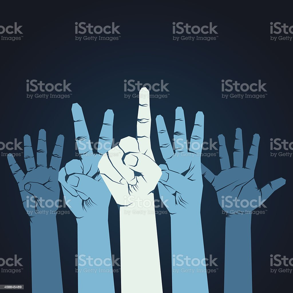 counting  finger royalty-free stock vector art
