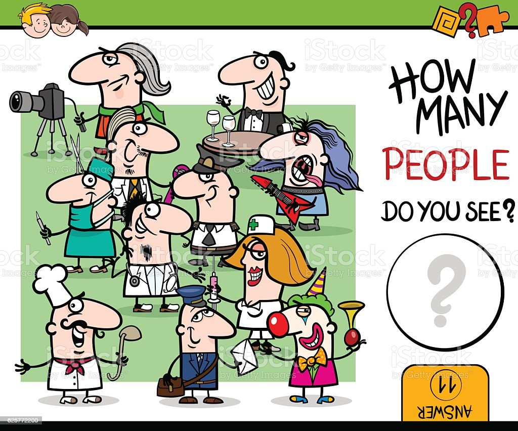 counting people activity vector art illustration