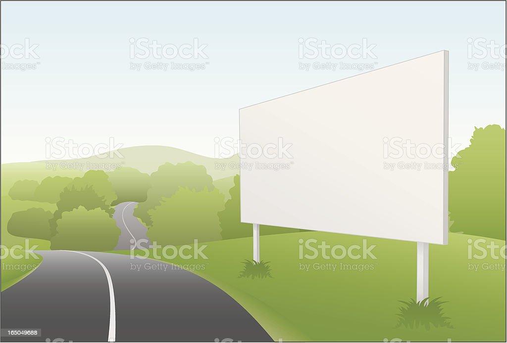 Country Billboard vector art illustration