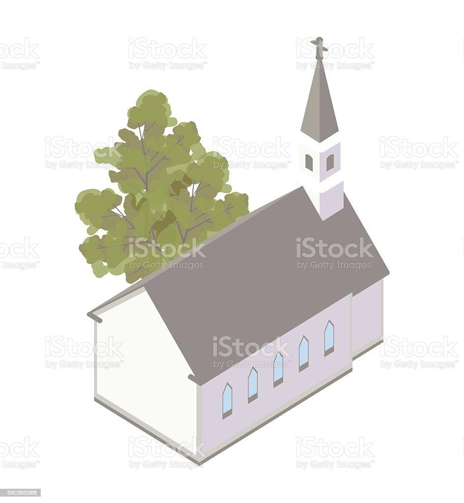 Country church illustration vector art illustration