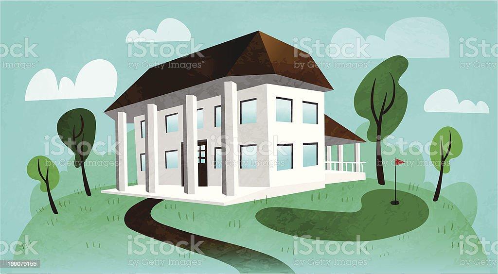 Country Club vector art illustration