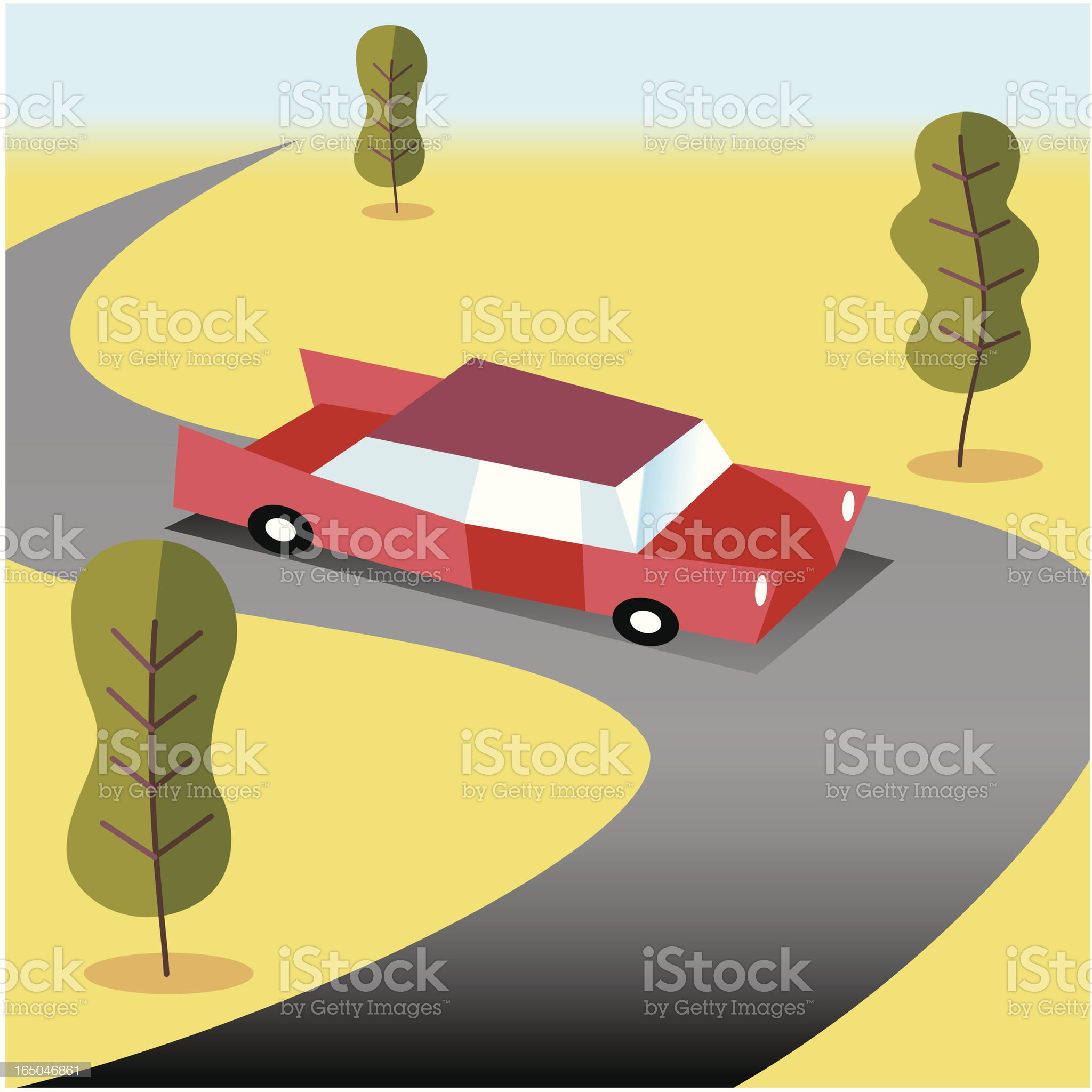 Country Drive royalty-free stock vector art