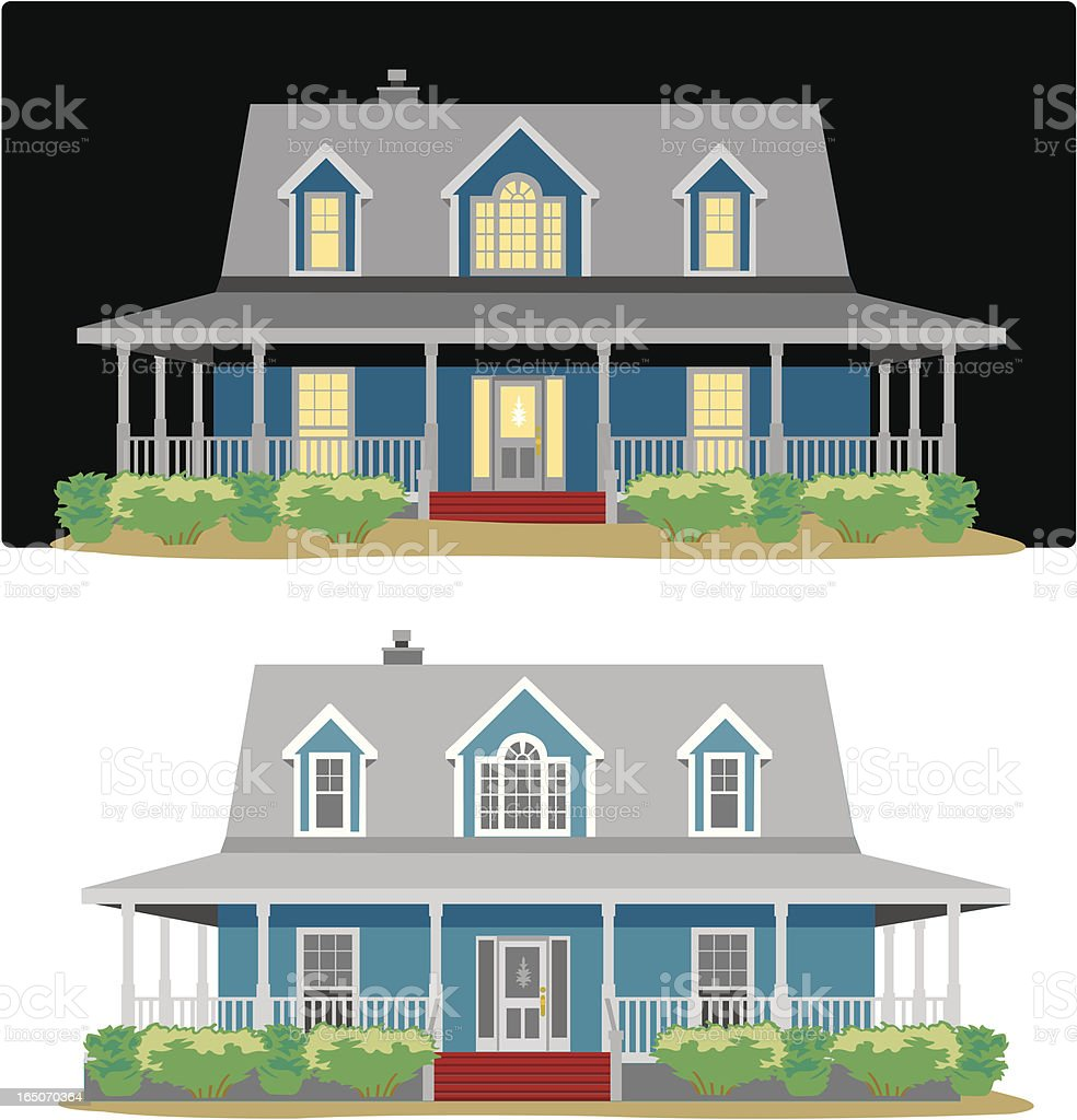 Country Home vector art illustration