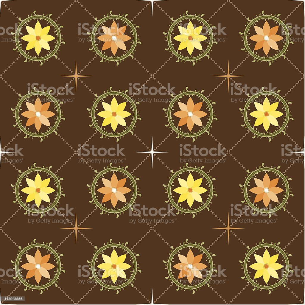 Country Home Wallpaper (Seamless) royalty-free stock vector art