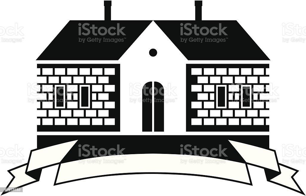 Country house vector illustration vector art illustration