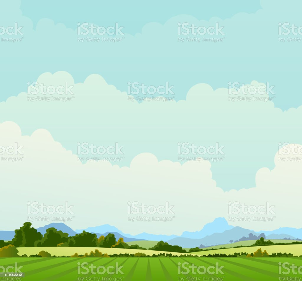 Country Landscape Background royalty-free stock vector art