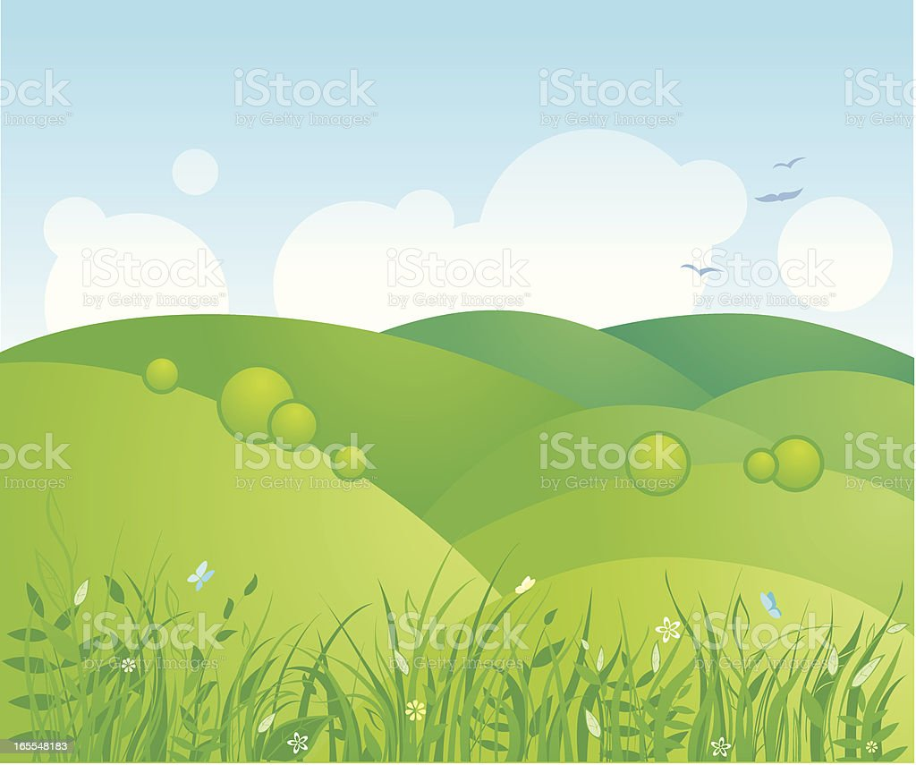 Country landscape - hills royalty-free stock vector art
