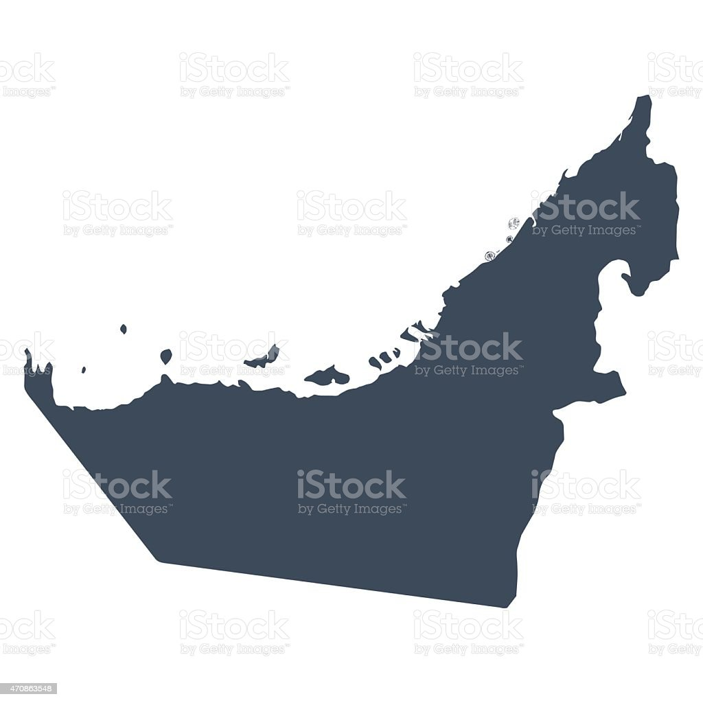 UAE country map vector art illustration
