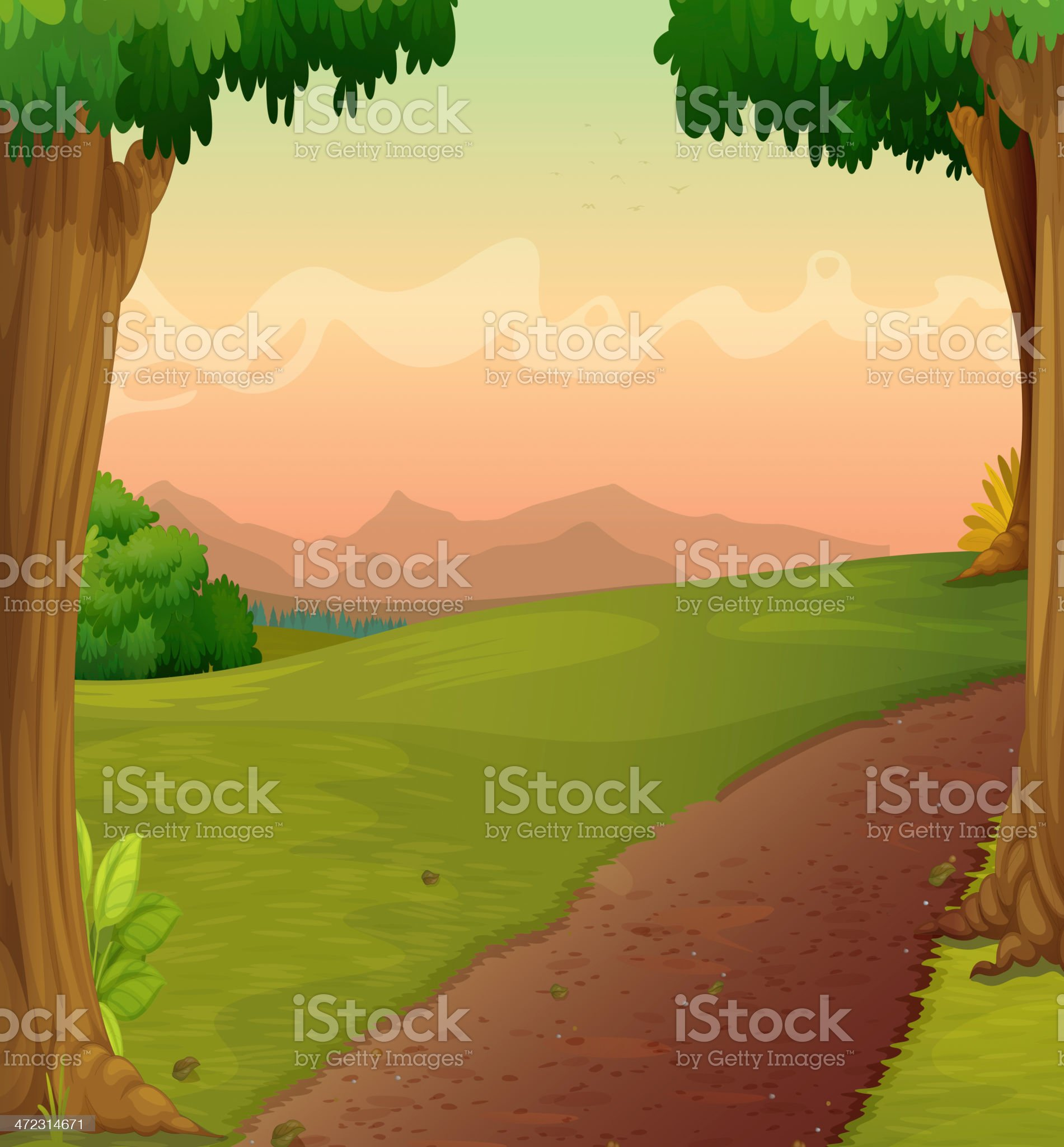 Country path royalty-free stock vector art