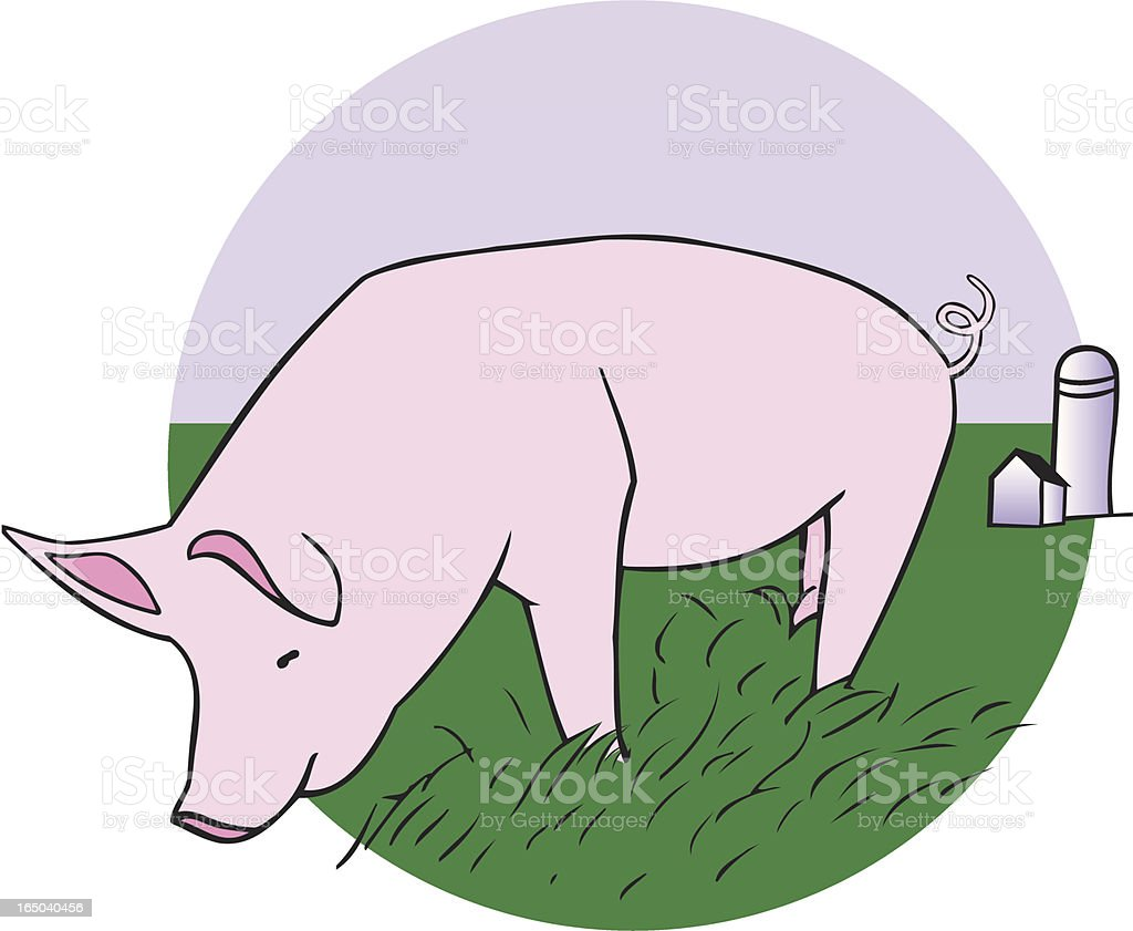 Country Piggy royalty-free stock vector art
