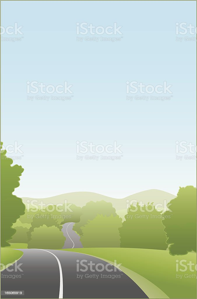 Country Road royalty-free stock vector art