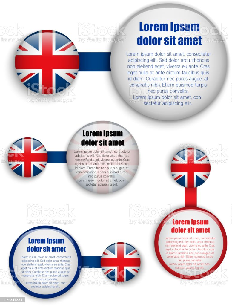 UK Country Set of Banners royalty-free stock vector art