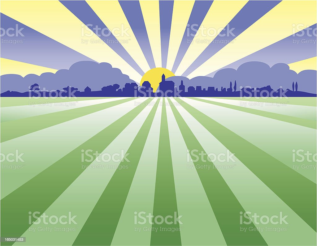country sunset royalty-free stock vector art