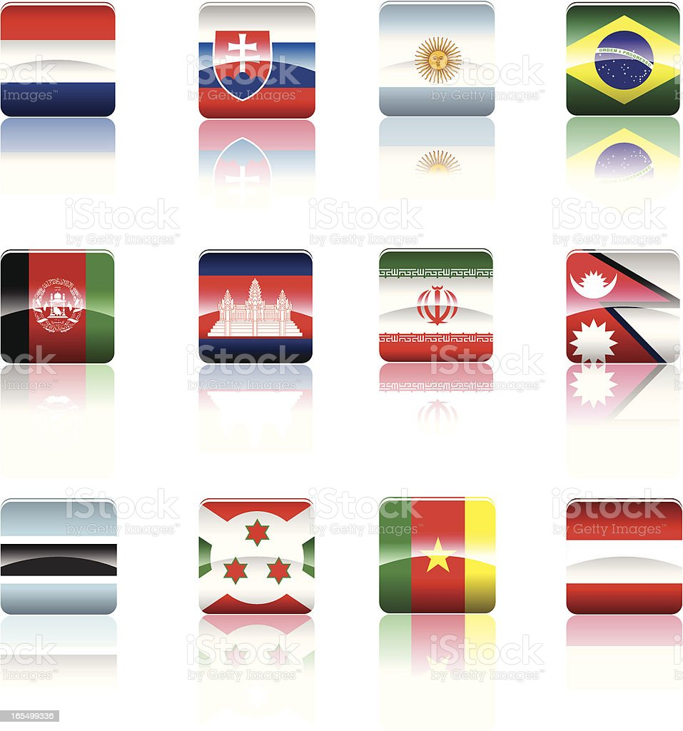 Country's national Flag collection. royalty-free stock vector art