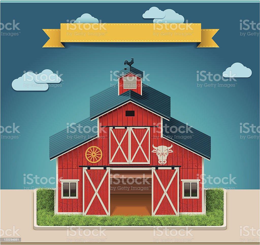 Red Barn Doors Clip Art barn door clip art, vector images & illustrations - istock