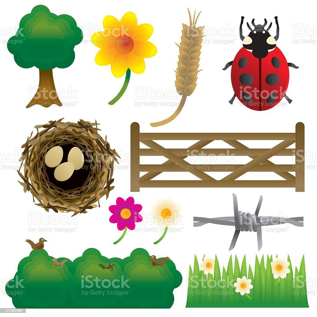 Countryside graphics vector art illustration