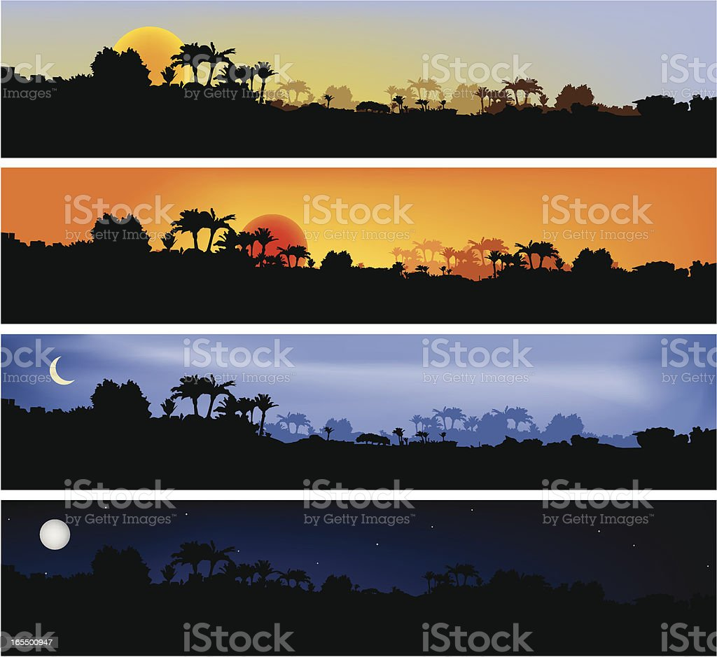 Countryside Scenes vector art illustration