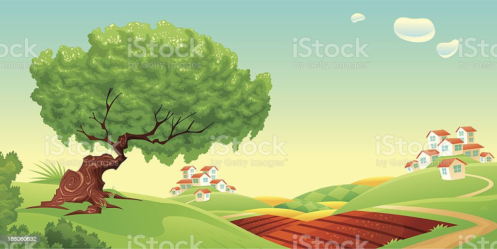 Countryside. royalty-free stock vector art