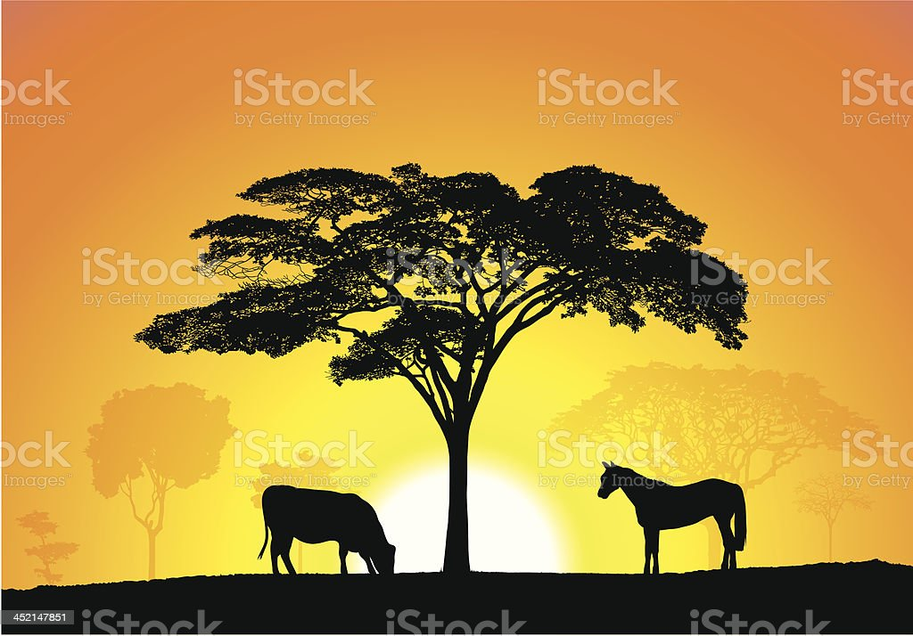 Countryside royalty-free stock vector art