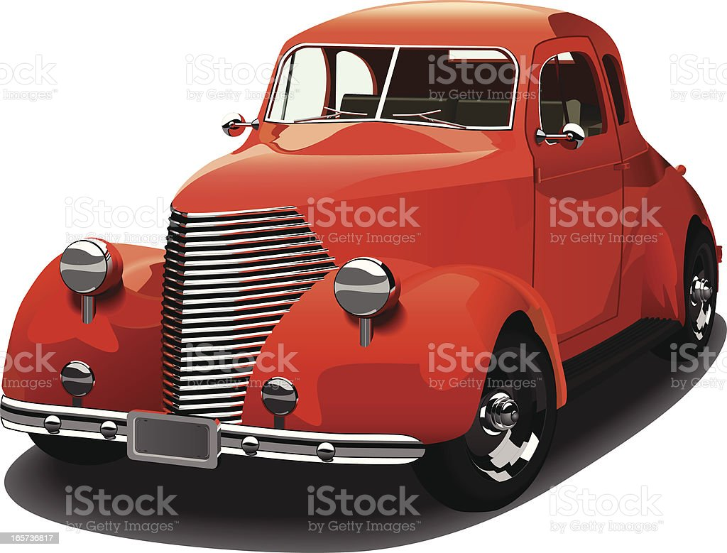 Coupe 1939 Style Hot Rod vector art illustration