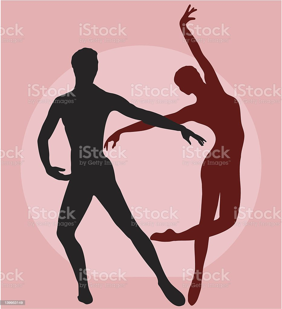 Couple Dancing Ballet (vector) royalty-free stock vector art