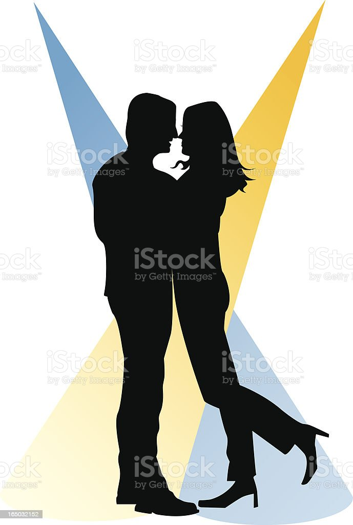 couple dancing royalty-free stock vector art