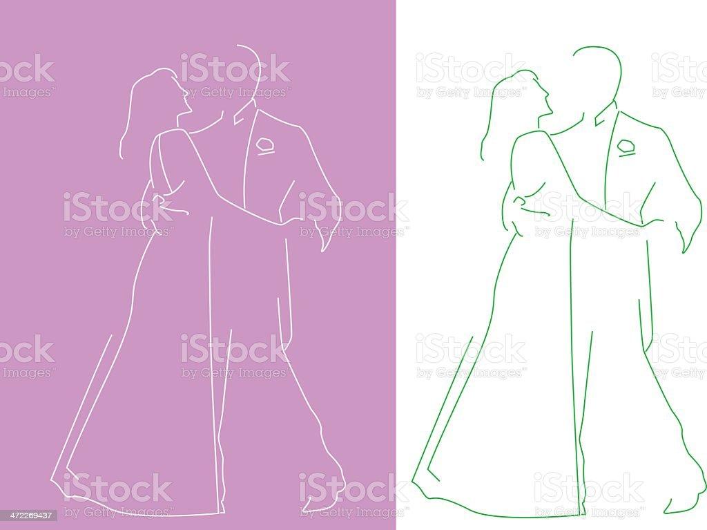 couple dancing royalty-free stock vector art