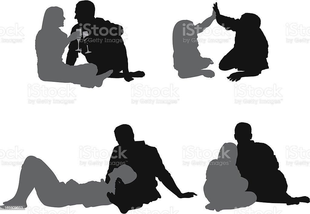Couple enjoying together royalty-free stock vector art