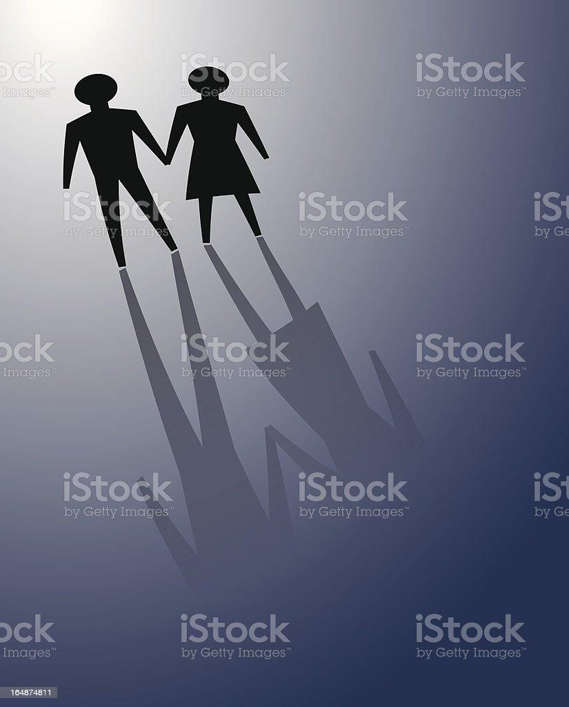 couple facing hardship royalty-free stock vector art