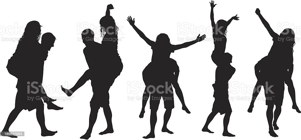 Couple having fun together royalty-free stock vector art