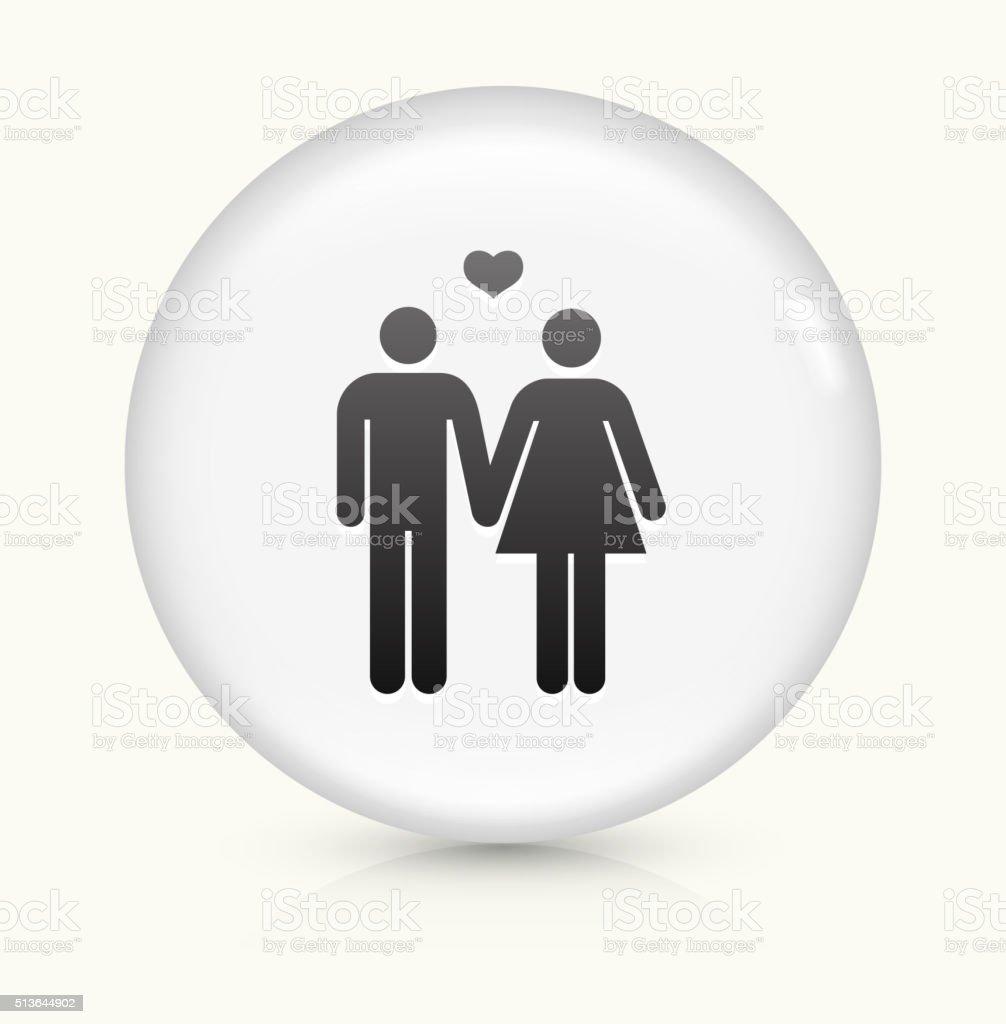 Couple icon on white round vector button vector art illustration