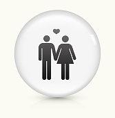 Couple icon on white round vector button