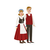 Couple In Hollandaise National Clothes