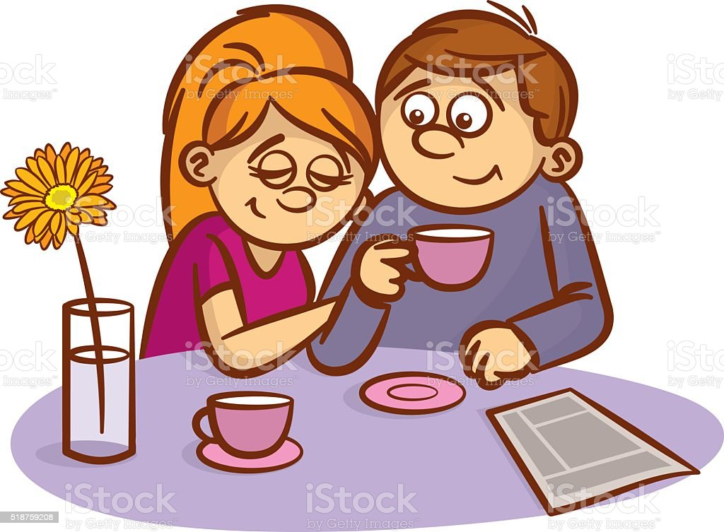 Couple in love Happy family vector art illustration