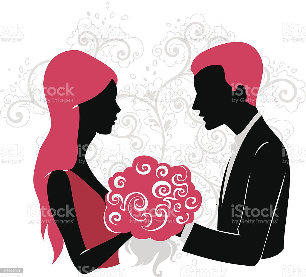 Couple in love royalty-free stock vector art