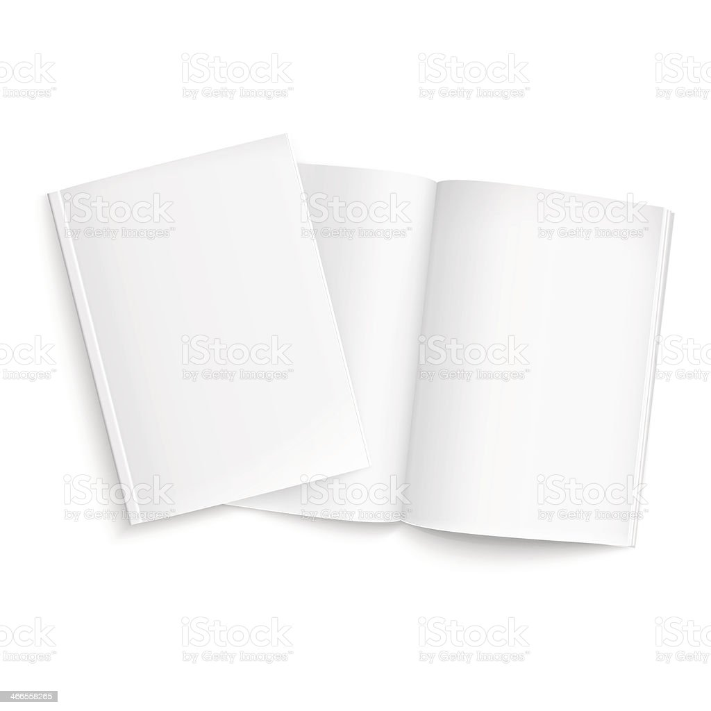 Couple of blank magazines template. vector art illustration