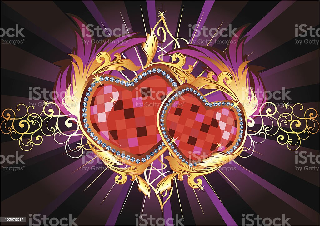 Couple of hearts royalty-free stock vector art