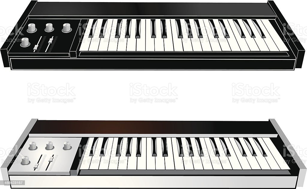 Couple of Synthesizers royalty-free stock vector art