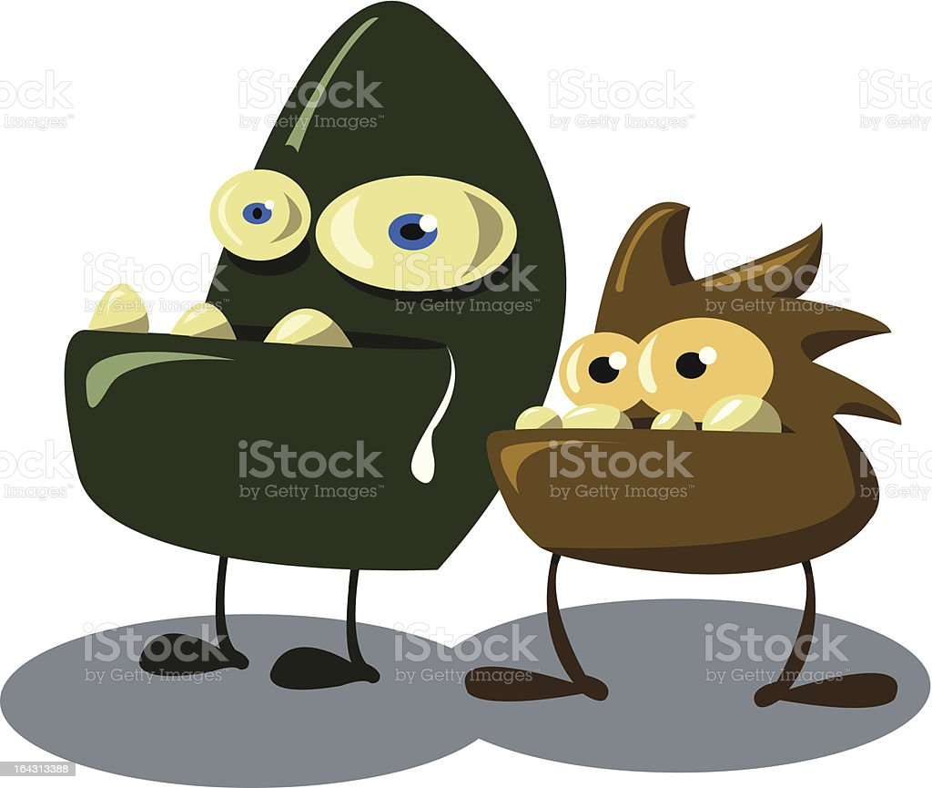 couple of viruses royalty-free stock vector art