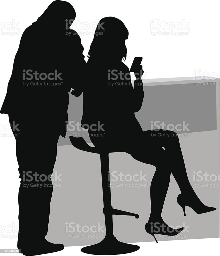 Couple on chair royalty-free stock vector art