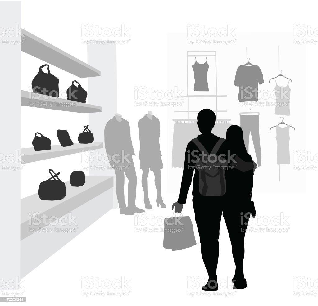 Couple Shopping royalty-free stock vector art