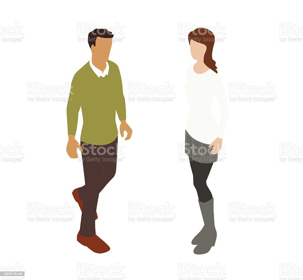 Couple Spot Illustration vector art illustration