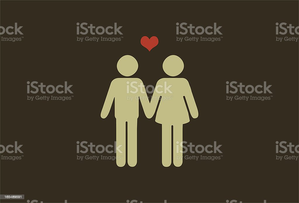 couple vector art illustration