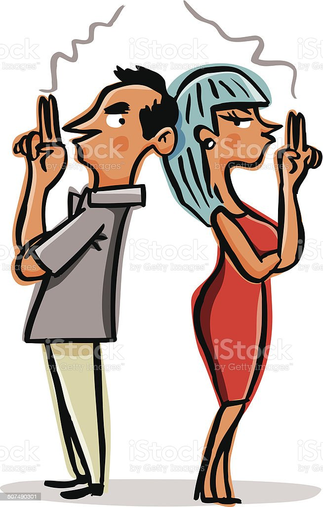 Couple with relationship difficulties. royalty-free stock vector art