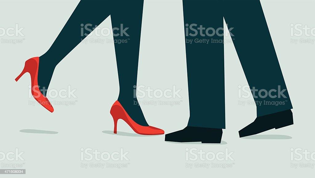 Couple-Illustration vector art illustration
