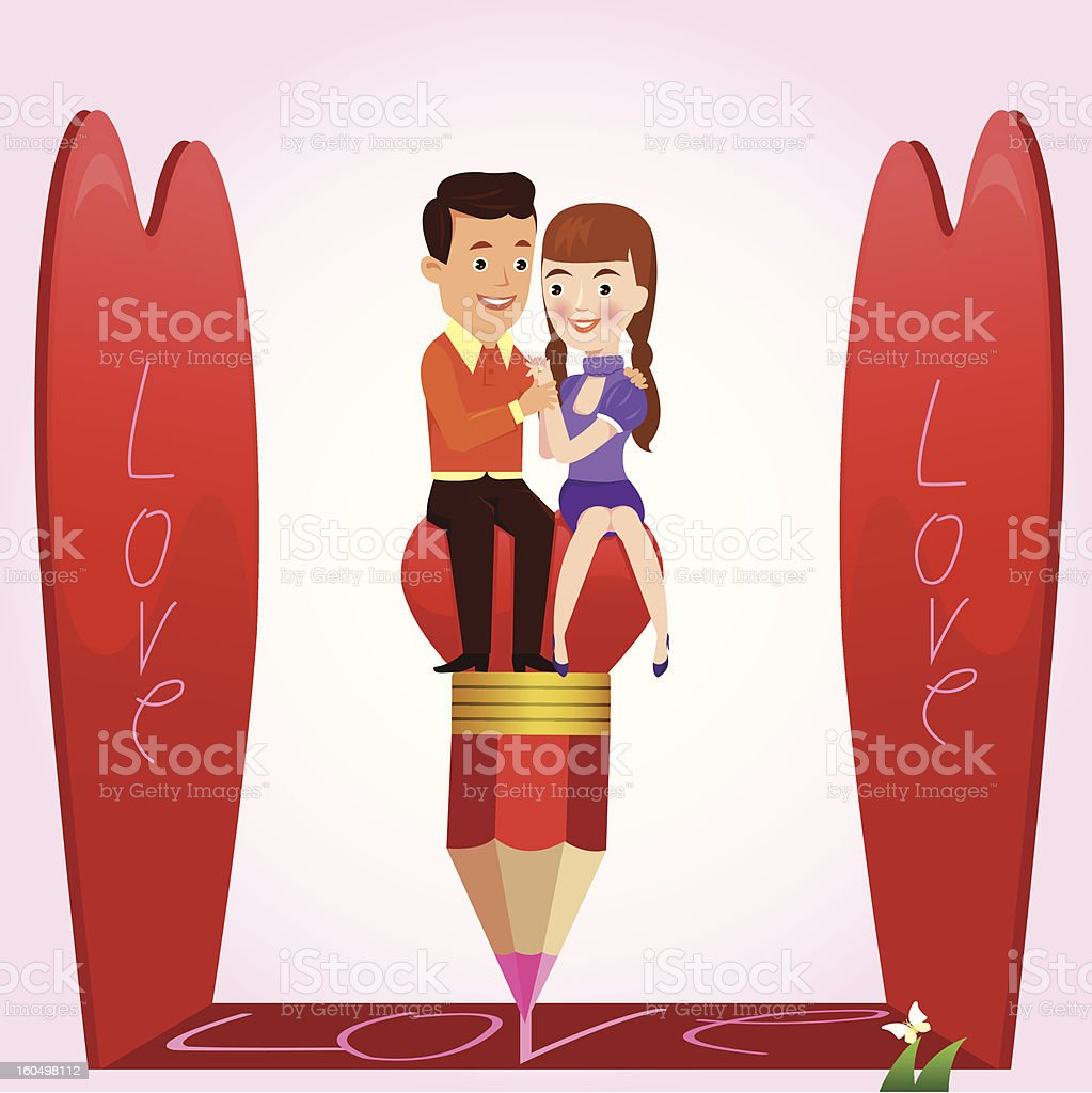 Couple's love. royalty-free stock photo