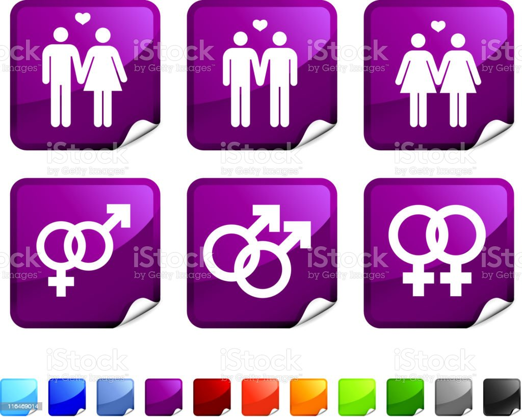 couples royalty free vector icon set vector art illustration
