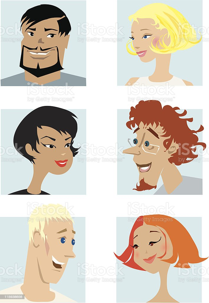Couples1 royalty-free stock vector art